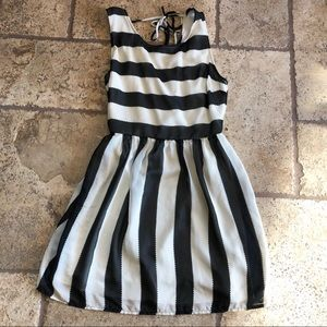 B&W Stripe Dress